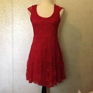 Deb red dress